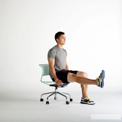 bài tập chữa đau khớp gối nâng cao chân
