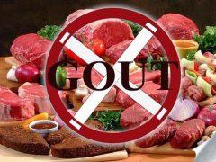 Người bị bệnh gout nên kiêng thực phẩm nhiều đạm