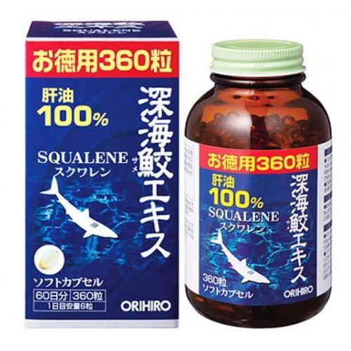 Thuốc xương khớp: sụn vi Cá Mập Squalene Orihiro 360 viên của Nhật Bản
