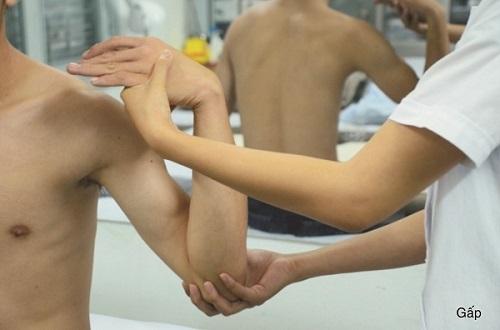 vật lý trị liệu khớp khuỷu tay chủ động